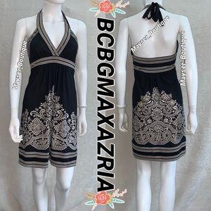 BCBGMAXAZRIA 🖤Halter Mini Dress Black